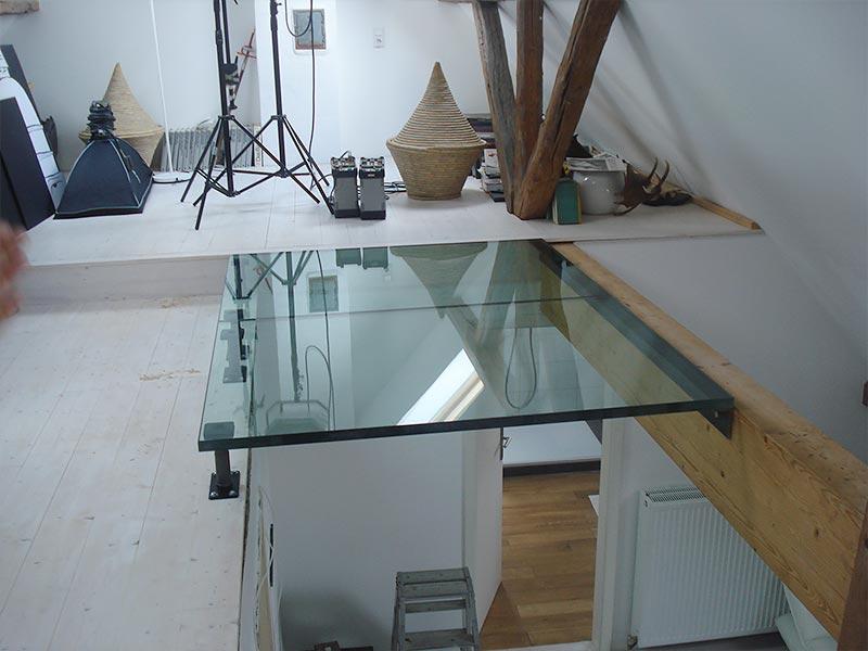 Begehbarer Glasboden