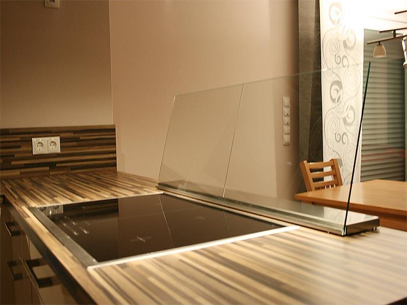 Küchen-Rückwand aus Glas