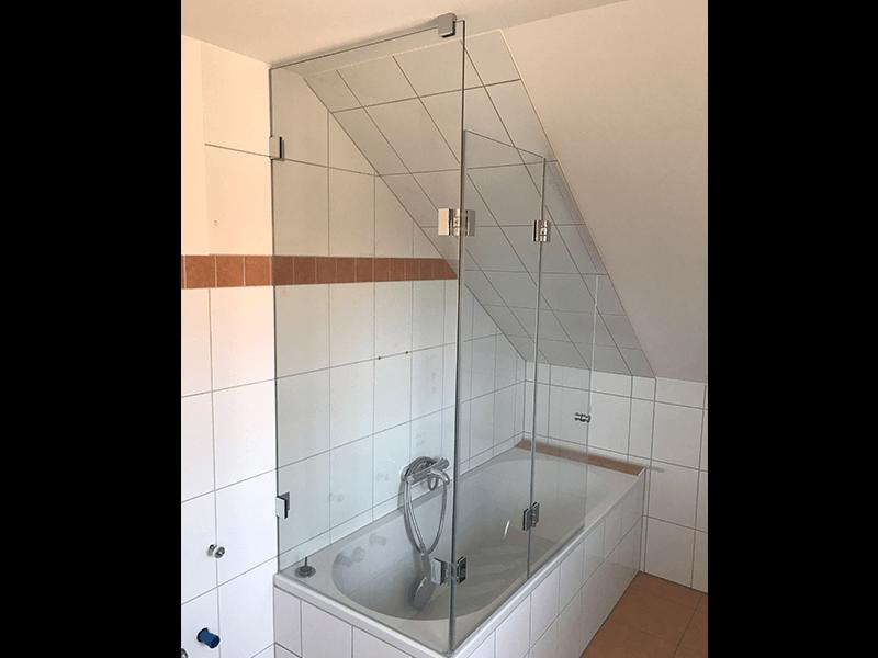 Badewannenverglasung